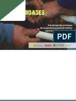 Aguas y comunidad. Construyendo procesos de autonomía y justicia hídrica para la defensa territorial El faro, Bello Oriente, Medellin