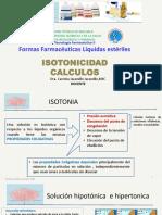 Carmita  Cálculos de Isotonicidad