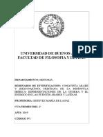 SEMINARIO DE INVESTIGACIÓN_CONQUISTA ÁRABE Y (RE)CONQUISTA CRISTIANA DE LA PENÍNSULA IBÉRICA.  REPRESENTACIONES DE LA GUERRA Y EL ENEMIGO EN LAS FUENTES ÁRABES Y LATINAS_ ESTÉVEZ