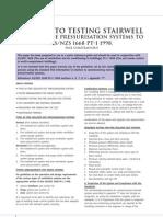Testing Staircase Pressurization