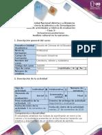 Guía de actividades y Rúbrica de evaluación - Fase  - Actuaciones posteriores