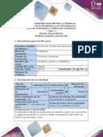 Guía de actividades  y Rúbrica de evaluación ─ Fase 1─ Diseño del problema