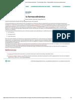 Generalidades sobre la farmacodinámica