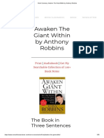 Book Summary_ Awaken The Giant Within by Anthony Robbins