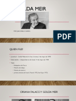 Golda Meir - Juan Pablo Zapata