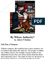 By Whose Authority?, by Albert P Holden