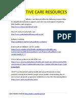 Palliative Care Resources Fb