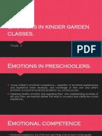 Emotions in kindergarden classes