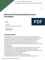 Behavioral_Computational Neuroscience Investigator _ Novartis