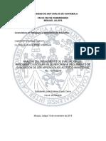 Analisis Didactico sobre el reglamento de evaluación