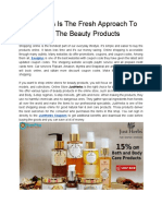 JustHerbs is the Fresh Approach to Buy the Beauty Products