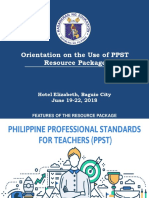 Orientation in the use of PPST resource package