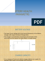 BATTERY HEALTH PARAMETRS