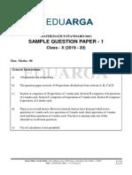 (Xth Class) sample paper