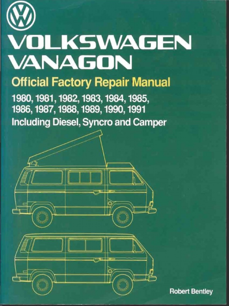 Volkswagen Vanagon Official Factory Repair Manual80 91 Pdf Axle Transmission Mechanics