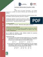 Unidad 1. Ecuaciones diferenciales de primer orden
