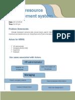 Human resourse management system
