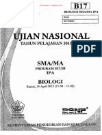 Naskah Soal UN Biologi SMA 2012