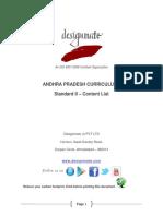 Eureka.in Andhra Pradesh 7.3 STD_II Content List