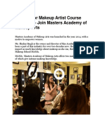 Looking for Makeup Artist Course Near You – Join Masters Academy of Makeup Arts