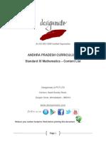 Eureka.in Andhra Pradesh 7.3 STD_XI Mathematics Content List