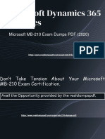 Microsoft MB-210 Exam Dumps With Latest MB-210 PDF