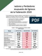 Los Ganadores y Perdedores en el Presupuesto de Egresos de la Federación 2020.pdf