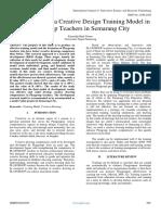 Development of a Creative Design Training Model in  Playgroup Teachers in Semarang City