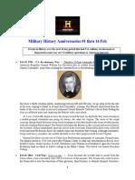 Military History Anniversaries 0201 Thru 021420