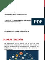 Relación entre globalización y administración