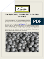 Use High-Quality Grinding Ball to Get High Production