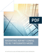 MIGRATING ASP.NET CONFIG TO IIS 7 INTEGRATED MODE