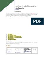 Selección de equipos y materiales para un arrancador estrella delta