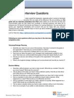 Behavioural Interview Questions