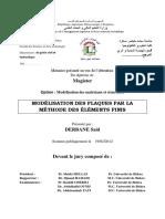 MODÉLISATION DES PLAQUES PAR LA MÉTHODE DES ÉLÉMENTS FINIS .pdf