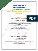 PHARMACOLOGY I - PRACTICAL JOURNAL - B. PHARM SEM IV.pdf