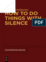 KHATCHADOURIAN, Haig - How to Do Things with Silence