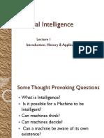 LEC 1 Intro to AI