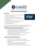 Crescent-human-values-professional-ethics 2020