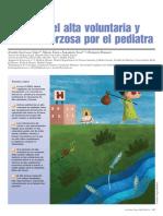 Manejo del alta voluntaria y del alta forzosa por el pediatra