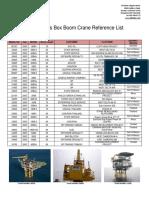 Nautilus Box Boom Crane Reference List