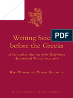 (Culture and History of the Ancient Near East 48) Rita Watson, Wayne Horowitz - Writing science before the Greeks_ a naturalistic analysis of the Babylonian astronomical treatise .pdf