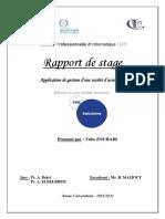 Rapport de Stage FSM WATMAN