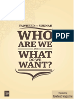 WHO ARE WE AND WHAT DO WE WANT?