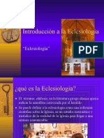 Eclesiologia Introduccion