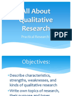 All About Qualitative Research