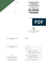 Edgar Cayces Offenbarung des neuen Zeitalters, Das Atlantis-Geheimnis.pdf