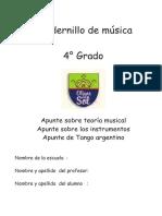 CUADERNILLO DE MÚSICA 4_ GRADO