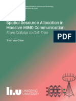 Spatial Resource Allocation in Massive MIMO Communication