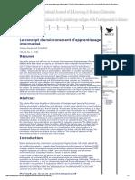 Le concept d'environnement d'apprentissage informatisé _ Doré _ International Journal of E-Learning & Distance Education